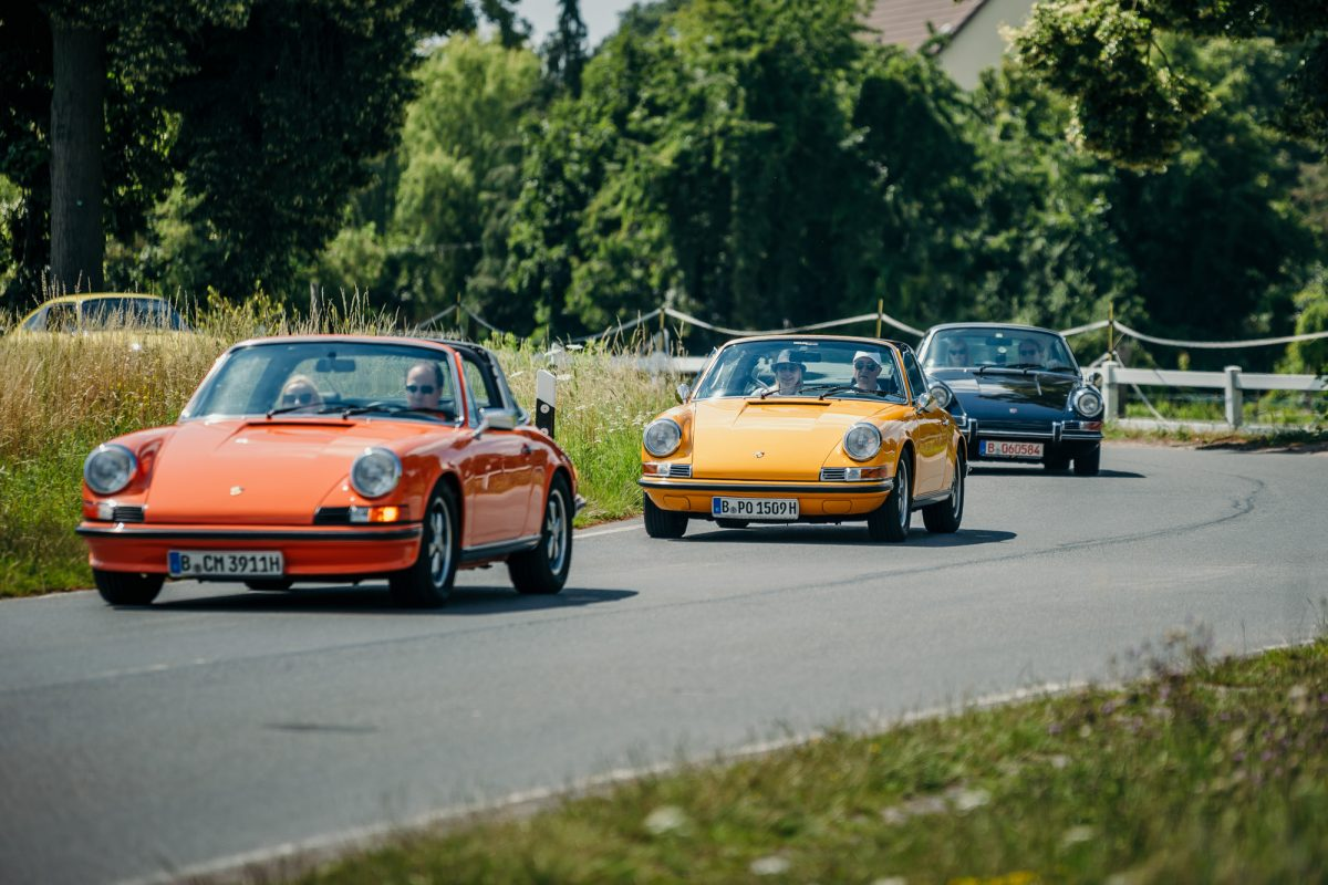 Bad Saarow Classics THE DRIVE 1 Landpartie Porsche Hatz auf der Landstrasse
