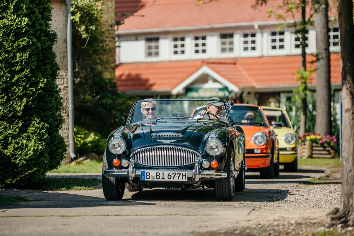 Bad Saarow Classics THE DRIVE 1 Landpartie Ankunft Austin Healey