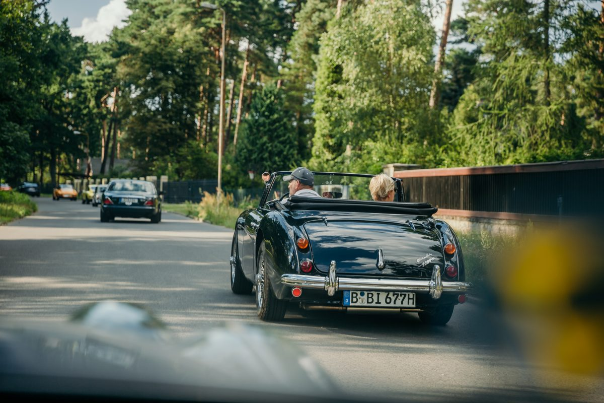 Bad Saarow Classics THE DRIVE 1 Landpartie Austin Healey und Jaguar XJ